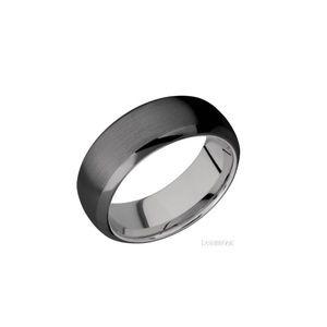LASHBROOK DESIGNS Titanium Zirconium Wedding Band